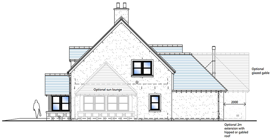 house type a side elevation snowdrop developments