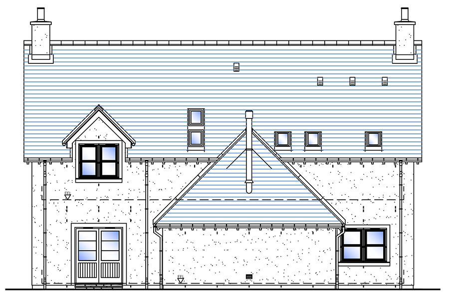 House Type B Rear Elevation