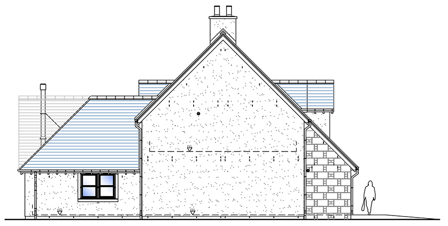 House Type B Side Elevation