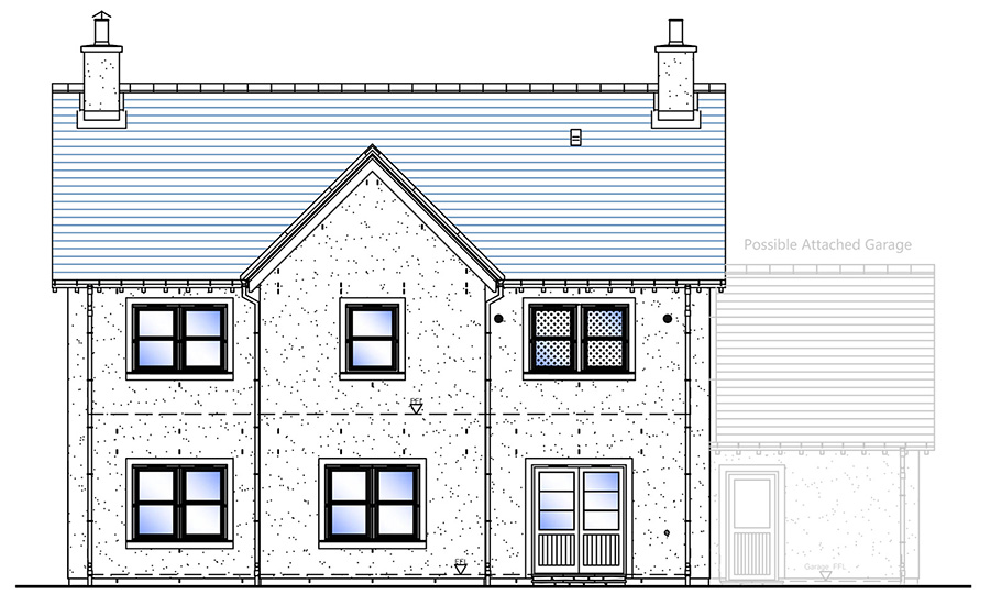 Rear Elevation - House Type F