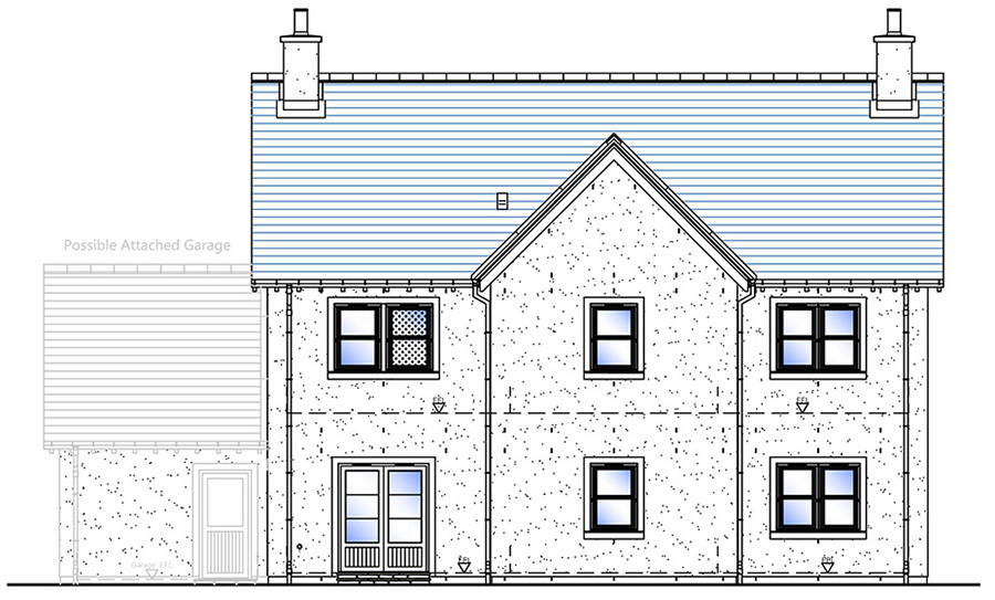 Rear Elevation - House Type G