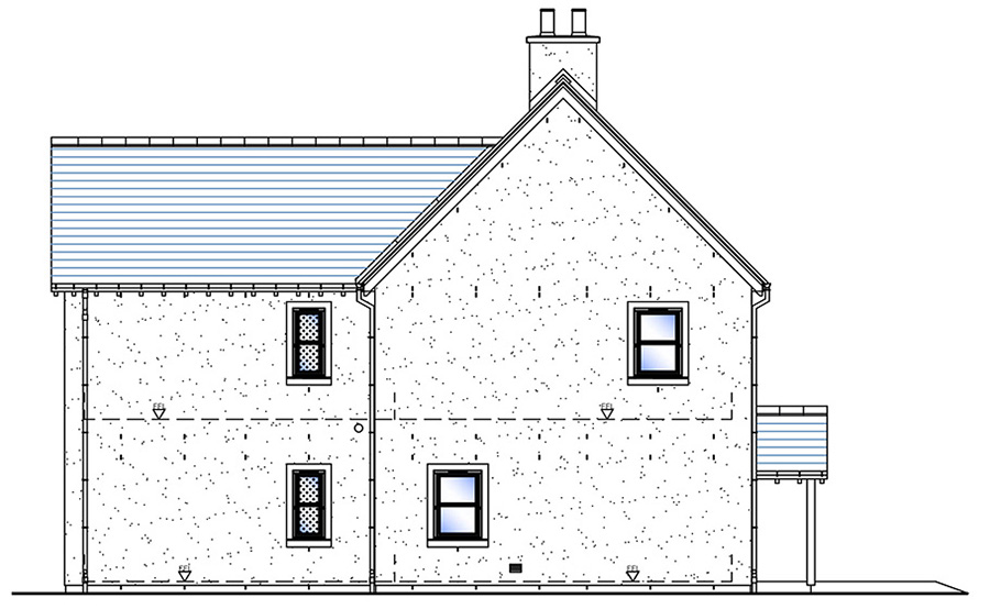 Side elevation house type g snowdrop developments for Home elevation front side