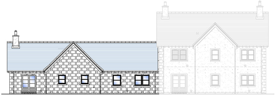 Rear Elevation House Type H (Granite)