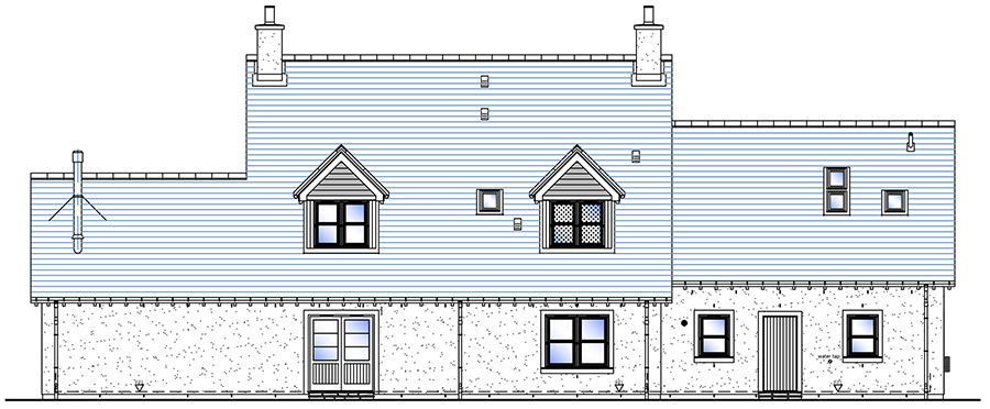 Rear Elevation - House Type J