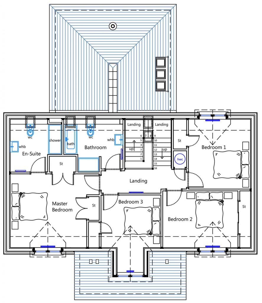 House Type B First Floor plan