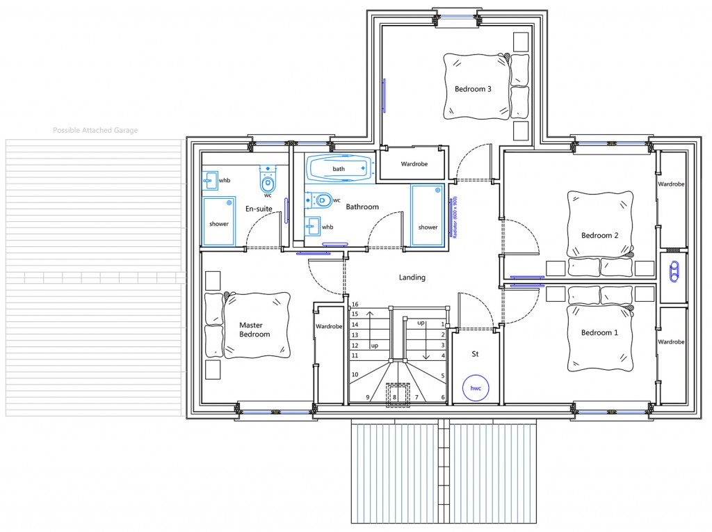 First Floor Plan - House Type F of Durward Gardens